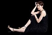 女青年,黑裙,韓國人