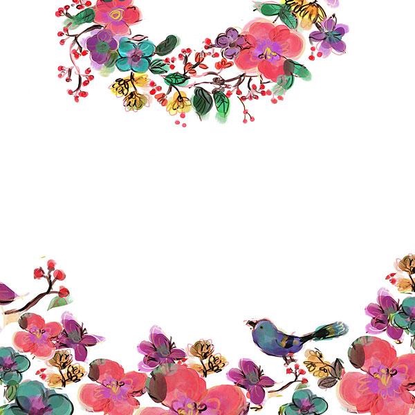ppt边框图片春天可爱