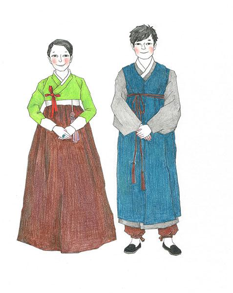 设计元素 >朝鲜美女  朝鲜服装下载相似预览购买