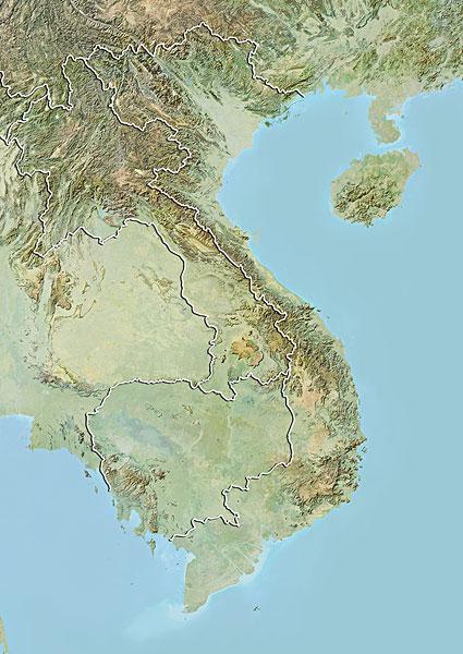 柬埔寨,老挝,地图