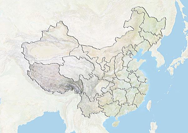>中国区域地图