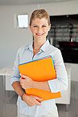 肖像,微笑,职业女性,办公室