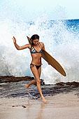 冲浪美女图片