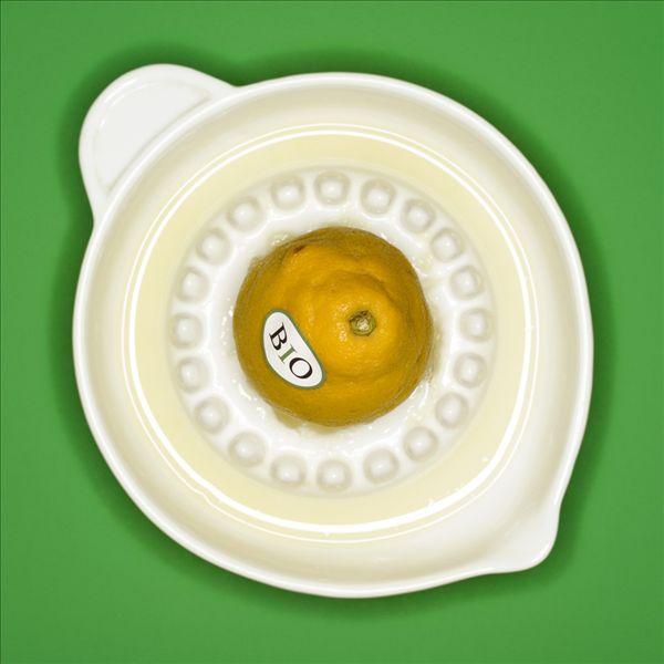 柠檬,榨汁机,俯视图