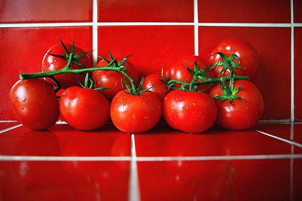 清新,西红柿,红色,砖瓦,厨房