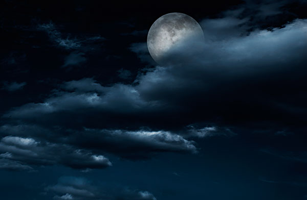 云遮月亮简笔画