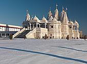 软面包,寺庙,白色,大理石,印度教,庙宇,冬天,景色,多伦多,安大略省,加拿大