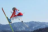 女性,自由式,滑雪者,空气