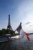 法国,国旗,风景,游艇,赛纳河,河