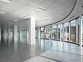 现代,白色,空,办公室,曼彻斯特