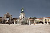 骑马雕像,国王,王宫广场,里斯本,葡萄牙