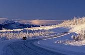 汽车,阿拉斯加公路,冬天,育空
