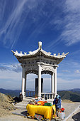 中国,山西,五台山,亭子,五个,梯田,山,一个,四个,神圣,佛教,山脉
