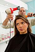 西班牙裔女性,美容院