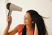 中国人,女人,烘干,头发