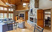 石头,壁炉,客厅