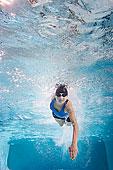 白人女性,游泳,游泳池
