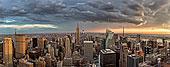 乌云,俯视,城市天际线