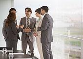 商务人士,交谈,窗边,会议室