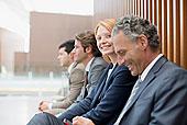 头像,微笑,职业女性,坐,商务人士