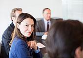 职业女性,微笑,会议室