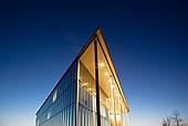 现代建筑,光亮,黄昏