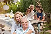 头像,微笑,老年,夫妻,家庭,野餐