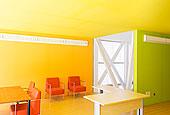 桌子,椅子,鲜明,办公室