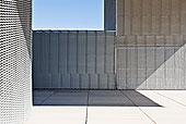 阳光,影子,墙壁,现代建筑