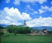 五台山蓝天白云