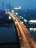 夜晚,场景,武汉,城市