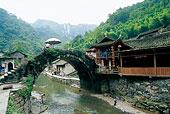 湖南湘西德夯苗寨风景