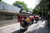 北京什刹海人力车