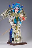 中国手工艺品-绢人