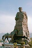湖南张家界贺龙与战马塑像