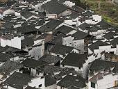江西城镇房屋俯视图