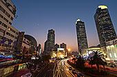 上海徐家汇的城市夜景风光