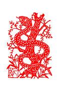 剪纸生肖蛇