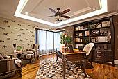 别墅,客厅,卧室,书房,餐厅,厨房,样板间