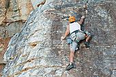 攀登,剥落,陡峭,岩石