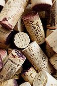 特写,向上,葡萄酒,软木塞