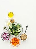 碗,蔬菜,调味品