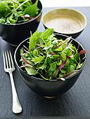 碗,混合,绿色,沙拉