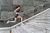 美女,楼梯