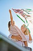 母女,玩,风筝,瑞典