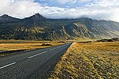 公路,一个,山,南方,冰岛
