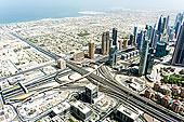 迪拜,城市,俯拍,阿联酋