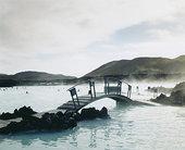 蓝色,水疗,冰岛