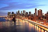 曼哈顿,布鲁克林大桥,夜晚