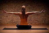 女人,练习,瑜珈,垫